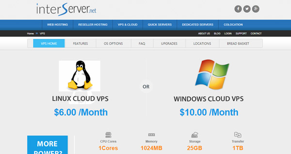 InterServer cheap cloud hosting